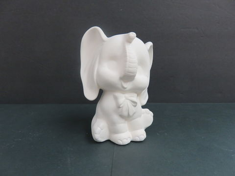 Baby,Elephant,with,Bow,Dona,Molds,in,Ready,to,Paint,Ceramic,Bisque,Baby Elephant with Bow , dona Molds  in Ready to Paint Ceramic Bisque,ceramic bisque,ready to paint,ceramics, bisque,kg krafts,teddy bears, cuddle bears,clay magic