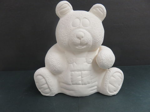 Teddy,Bear,with,Overalls,Ocean,State,Molds,Ready,to,Paint,Ceramic,Bisque,Teddy Bear, Overalls, Ocean State Molds, Ready to Paint, Bisque,kgkrafts