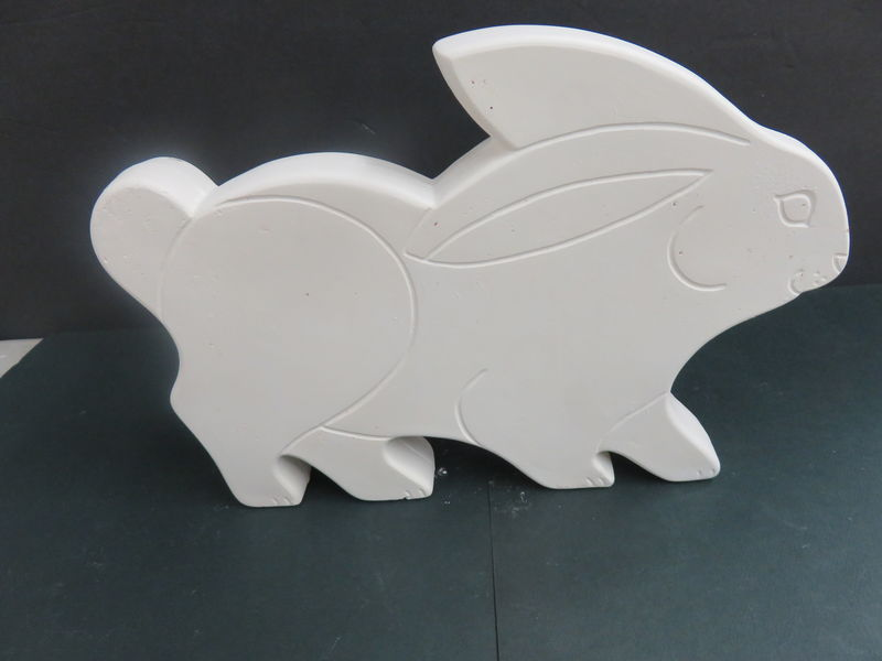 Flat Bunny   Ready to Paint Ceramic Bisque - product images