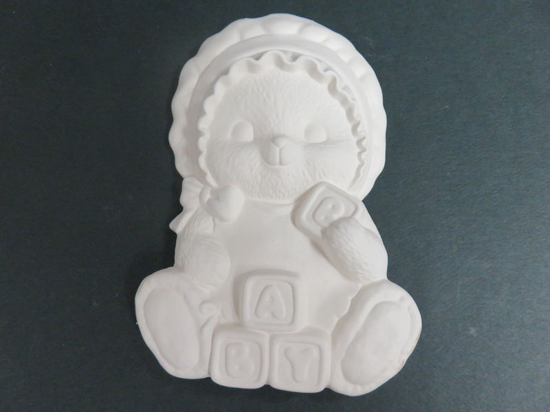 Baby Girl Bear Ready to Paint Ceramic Bisque - product images