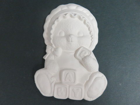 Baby,Girl,Bear,Ready,to,Paint,Ceramic,Bisque,Baby Girl Bear Ready to Paint, ceramic bisque, ready to paint,kg krafts,shower favors