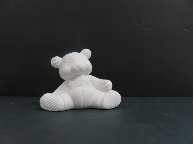 Teddy Bear in Overalls Ready to Paint Ceramic Bisque - product images