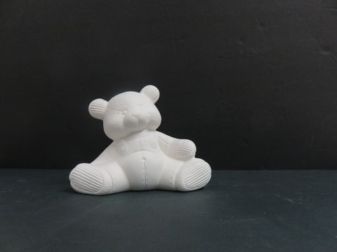 Teddy,Bear,in,Overalls,Ready,to,Paint,Ceramic,Bisque,Teddy Bear in Overalls Ready to Paint, ceramic bisque, ready to paint,kg krafts,shower favors