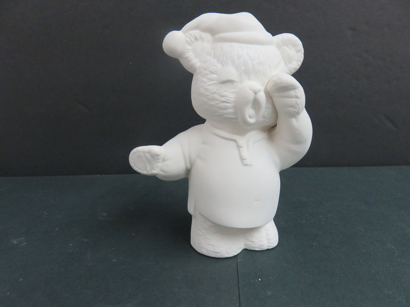 Teddy Bear in Nightclothes Ready to Paint Ceramic Bisque - product images
