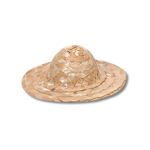 9,inch,Straw,Hat,6,piece,package,straw hats, doll making, six inch, crafts, supplies