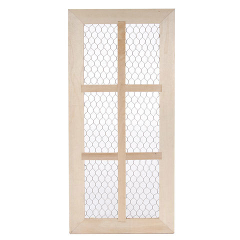 Chicken,Wire,Window,Frame,With,6,Panes,Chicken Wire Window Frame With 6 Panes,wood,darice,kg krafts,ready to paint, unfinished,craft supplies