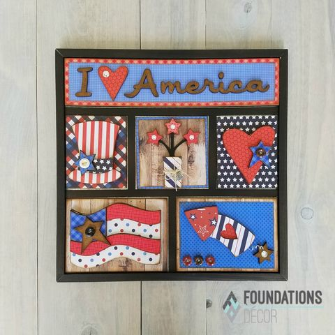 I,Love,America,Foundations,Decor,Shadow,Box,Kits,I Love America, Foundations Decor Shadow Box Kits,kg krafts,craft supplies,scrapbook supplies,crafts