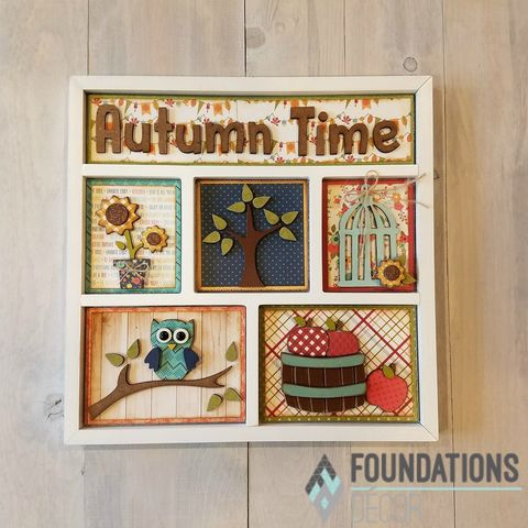 Autumn,Time,Foundations,Decor,Shadow,Box,Kits,Autumn Time, Foundations Decor Shadow Box Kits,kg krafts,craft supplies,scrapbook supplies,crafts