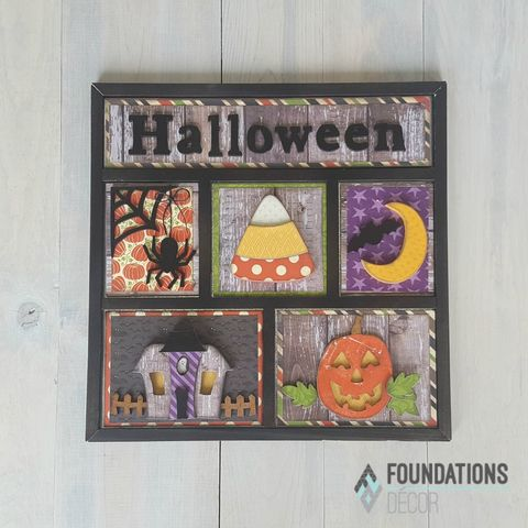 Halloween,Foundations,Decor,Shadow,Box,Kits,Halloween , Foundations Decor Shadow Box Kits,kg krafts,craft supplies,scrapbook supplies,crafts