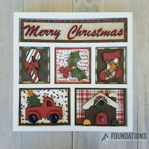 Christmas,Foundations,Decor,Shadow,Box,Kits,Christmas , Foundations Decor Shadow Box Kits,kg krafts,craft supplies,scrapbook supplies,crafts
