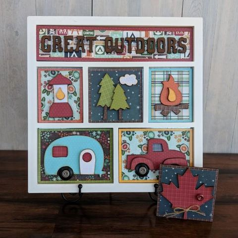 Great,Outdoors,Foundations,Decor,Shadow,Box,Kits,Great Outdoors , Foundations Decor Shadow Box Kits,kg krafts,craft supplies,scrapbook supplies,crafts