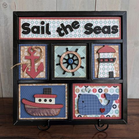 Sail,The,Seas,Foundations,Decor,Shadow,Box,Kits,Sail The Seas , Foundations Decor Shadow Box Kits,kg krafts,craft supplies,scrapbook supplies,crafts