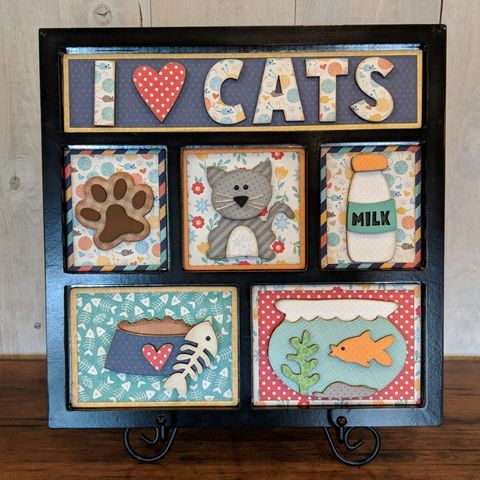 I,Love,Cats,Foundations,Decor,Shadow,Box,Kits, I Love Cats , Foundations Decor Shadow Box Kits,kg krafts,craft supplies,scrapbook supplies,crafts