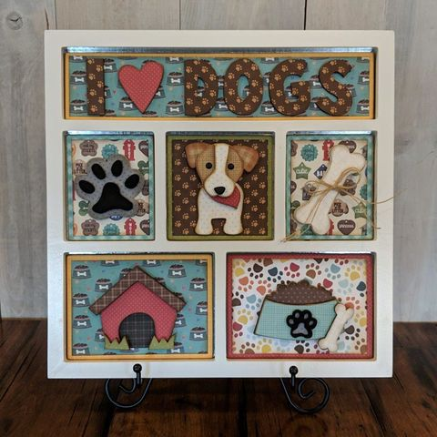 I,Love,Dogs,Foundations,Decor,Shadow,Box,Kits, I Love Dogs , Foundations Decor Shadow Box Kits,kg krafts,craft supplies,scrapbook supplies,crafts