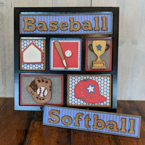 Baseball,Foundations,Decor,Shadow,Box,Kits,Baseball , Foundations Decor Shadow Box Kits,kg krafts,craft supplies,scrapbook supplies,crafts