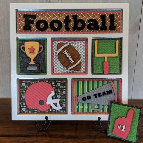 Football,Foundations,Decor,Shadow,Box,Kits,Football , Foundations Decor Shadow Box Kits,kg krafts,craft supplies,scrapbook supplies,crafts