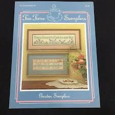 Tea,Time,Samplers,Counted,Cross,Stitch,Garden,no,6,Tea Time Samplers,just cross stitch, Counted Cross Stitch, Garden Samplers no 6, cross stitch, classic cross stitch, needle arts,kg krafts,needle arts