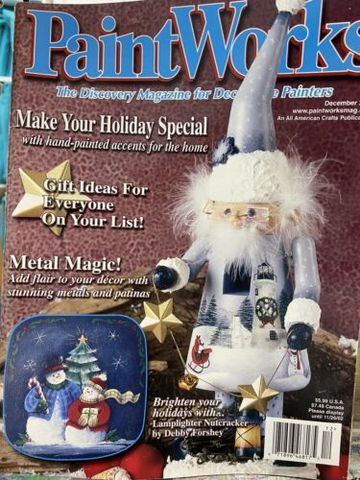 PaintWorks,December,2002,Decorative,Painters,Magazine,December 2002, Decorative Painters Magazine,kg krafts, decorative painting,painting,home decor,crafts,magazine