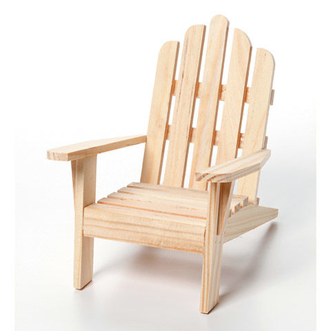 Miniature,Unfinished,Wood,Adirondack,Chair,,5.5,inches, Unfinished, Wood, Adirondack Chair, 5.5 kg krafts,darice,unpainted,furniture,craft supplies