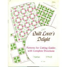 Quilt,Lover's,Delight,no,3540,Aunt,Martha's,Quilt Lover's Deligh, no 3540, Aunt Martha's,sewing,quilting,kg krafts