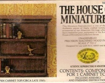 Chippendale,Open,Cabinet,Top,from,Xacto,House,of,Miniatures,no.,40002,My Miniature World Shop,doll house miniature,bedroom, cabinets, Dining room, doll house, dollhouse, dollhouse miniatures, Dresser, house of miniatures, kitchen, Library, living room