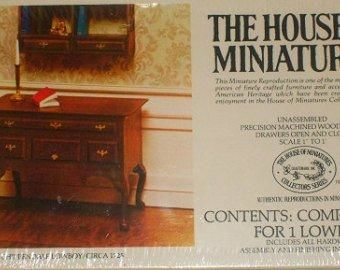 House,of,Miniatures,Chippendale,Lowboy,Kit,no.,40024,My Miniature World Shop,doll house miniature,bedroom, cabinets, chippendale, doll house, dollhouse, dollhouse miniatures, Dresser, house of miniatures, low boy, miniatures, my miniature world shop