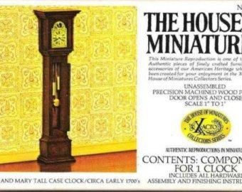William,and,Mary,Tall,Case,Clock,House,of,Miniatures,no.,40018,My Miniature World Shop,doll house miniature,clock, country kitchen, Dining room, doll house, dollhouse, dollhouse miniatures, entrance hall, furniture, furniture kit, miniatures, my miniature world shop