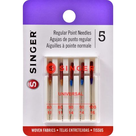 SINGER-Universal,Regular,Point,Sewing,Machine,Needles,Assortment,pack,SINGER-Universal Regular Point Sewing Machine Needles, 110/18 ,kg krafts,sewing,needlearts,embroidery