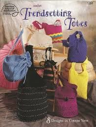 American,School,of,Needlework,Crochet,Trendsetting,Totes,no,1251,American School of Needlework Crochet Trendsetting Totes  no 1251,kg krafts,knit,crochet