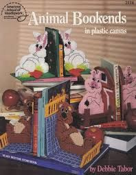 Plastic,Canvas,Animal,Bookends,by,Debbie,Tabor,Plastic Canvas,Animal Bookends,Debbie Tabor,american school of needlework,kg krafts,needlepoint
