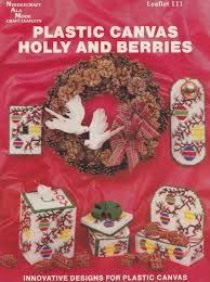 Plastic,Canvas,Holly,and,Berries,by,Needlecraft,Ala,Mode, Plastic Canvas,Holly and Berries,Needlecraft Ala Mode, kg krafts, needlework, cross stitch