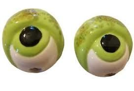 Vintage,Ceramic,Frog,Eye,Beads,for,Macrame,Vintage Ceramic Frog Eye Beads,kg krafts