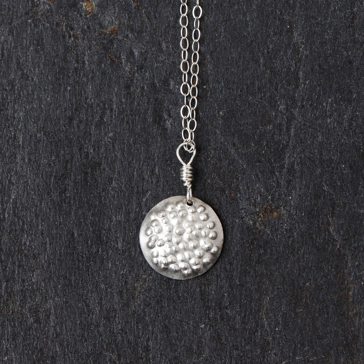 Bumpy Disc necklace - product image