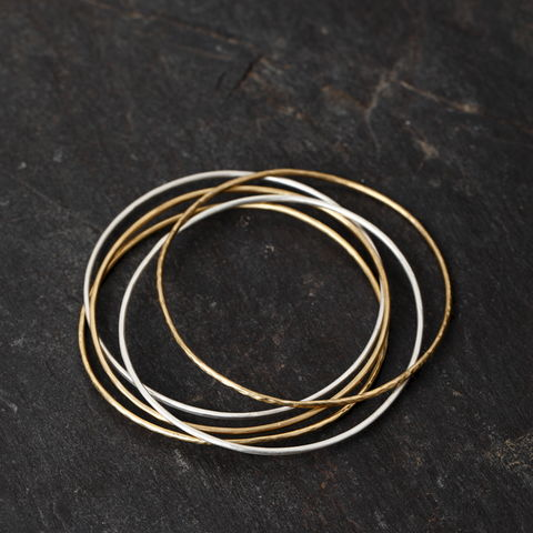 Sterling,Silver,and,Brass,Bangles