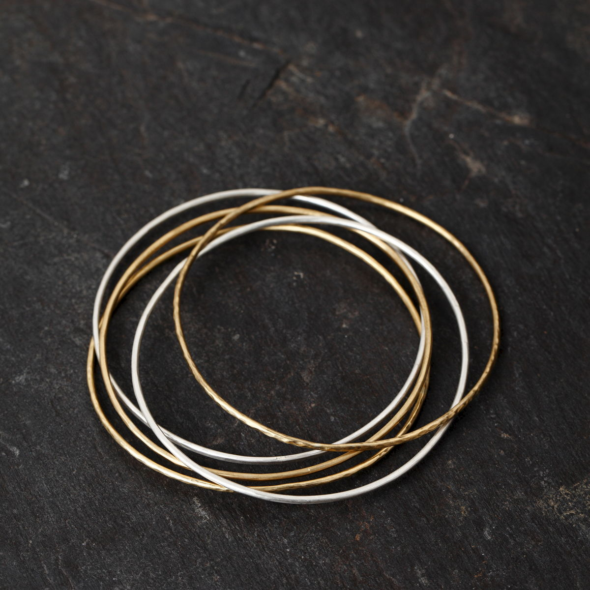 Sterling Silver and Brass Bangles - Mckinsey Bamber Jewelry