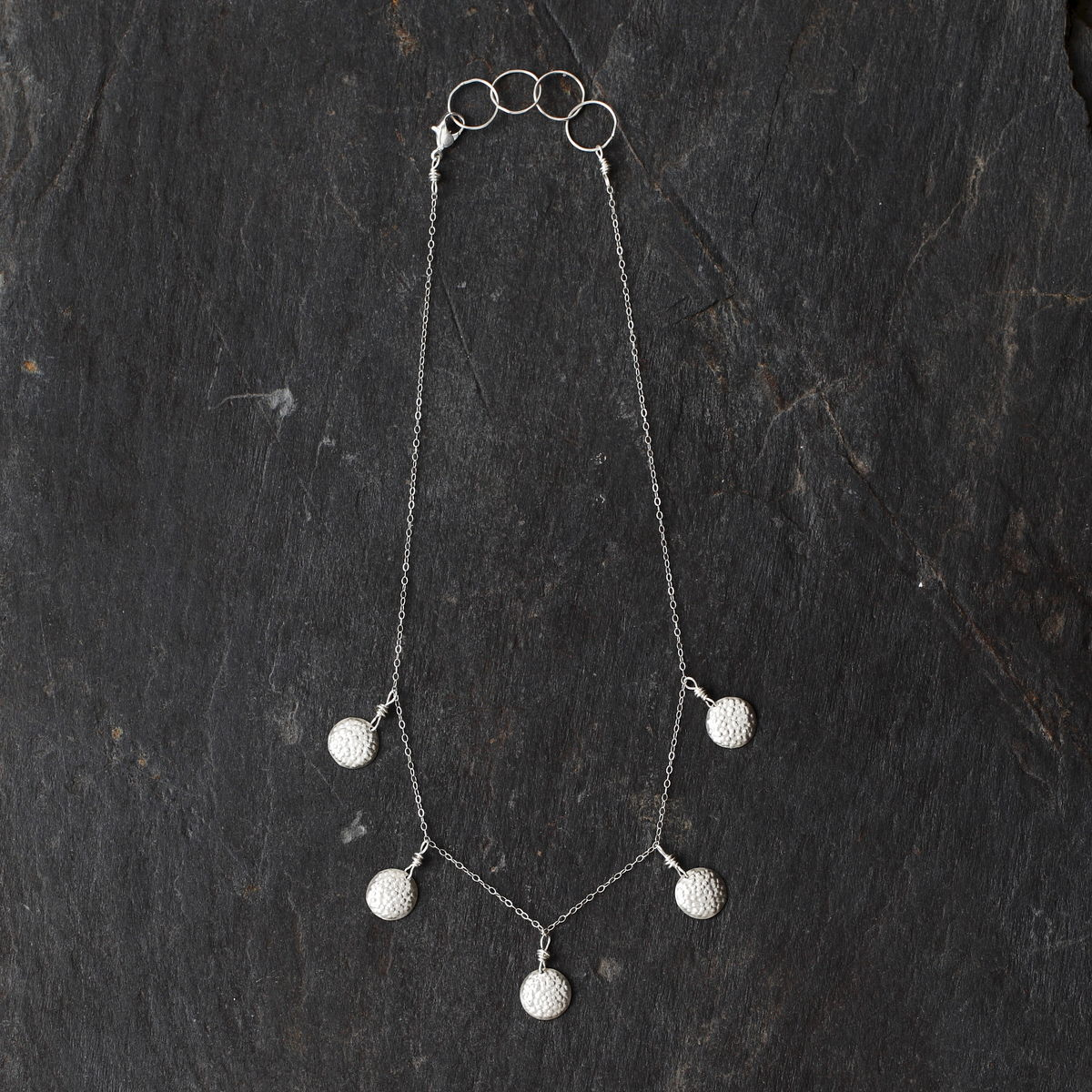 Tiered Bumpy Disc necklace (Sterling Silver) - product images  of