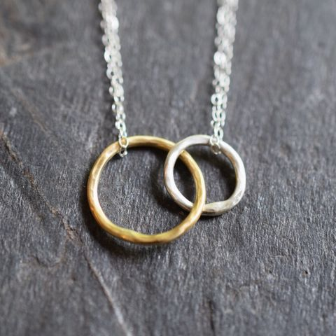 Trust,Necklace,Handmade, circles necklace, mother's Day jewelry, sterling silver necklace