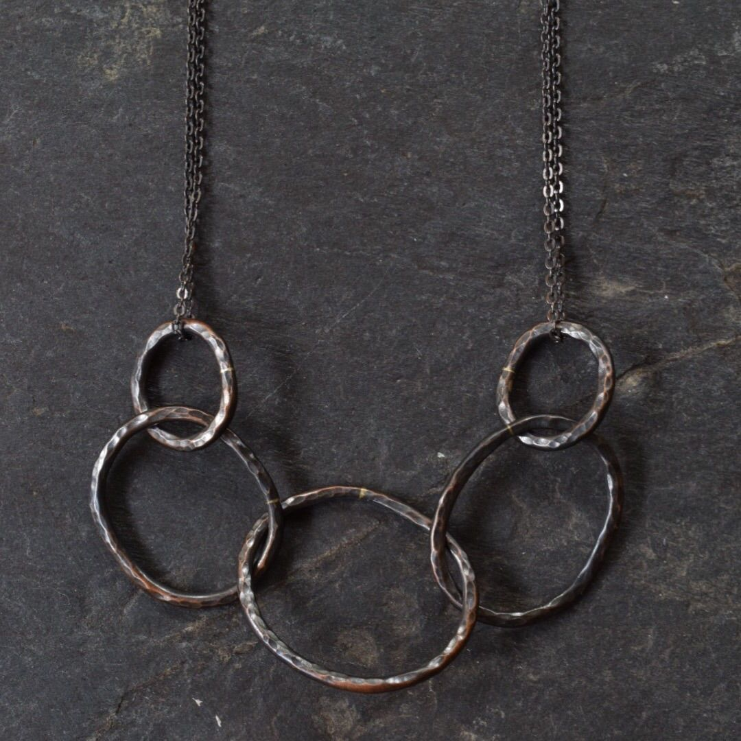 Oxidized Chain Link Necklace - product images  of