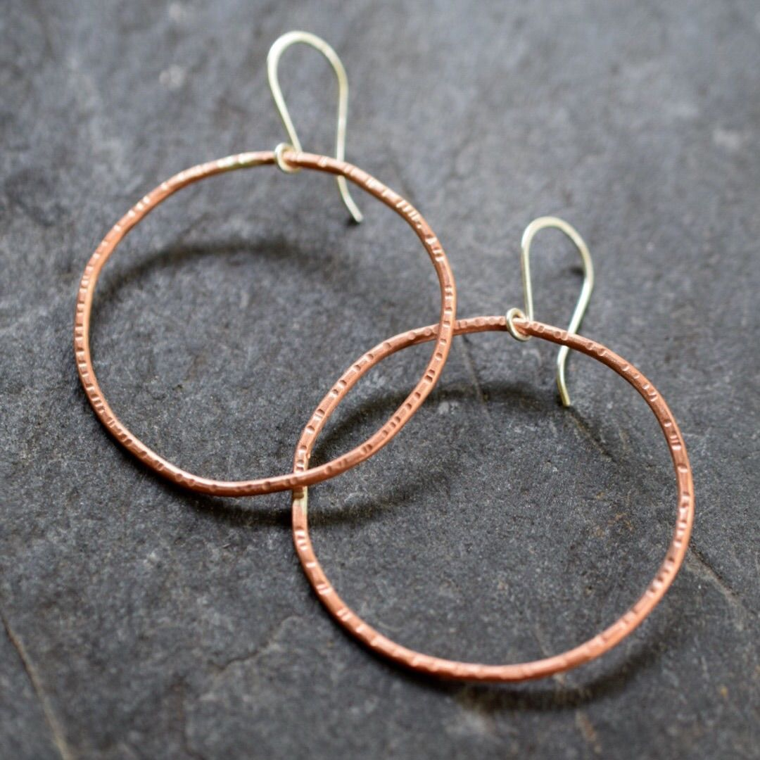 Large Circle Earrings - Mckinsey Bamber Jewelry