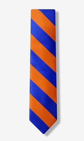 Orange,&,Blue,Stripe,Tie,UF Tie