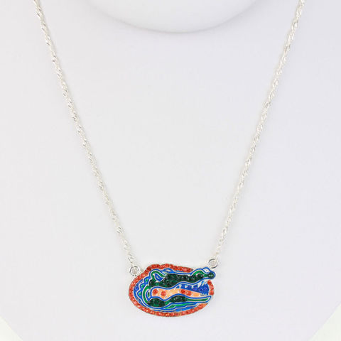 Gators,Crystal,Logo,Necklace,Gators Crsytal Logo Necklace