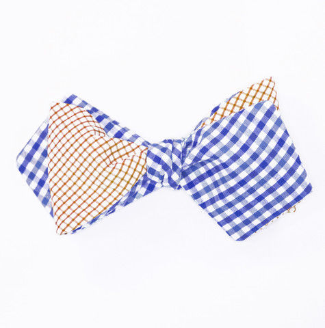 Royal & Orange Windowpane Bow Tie - product image