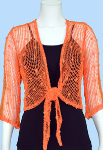 Tie Front Shrug - product images  of