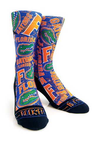 Gators,Logo,Sketch,Socks,Gators Logo Sketch Socks