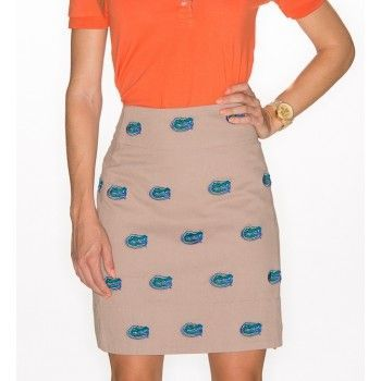 Florida,Stadium,Skirt,-,Khaki,UF Gators Skirt