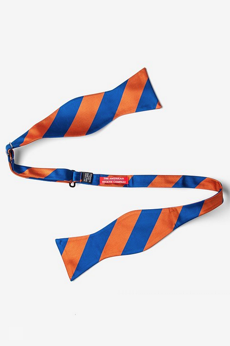 Orange & Blue Stripe Self Tie Bow Tie - product images  of