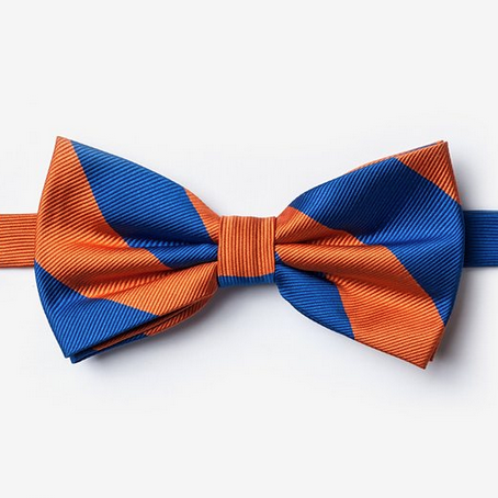 Blue And Orange Pre-Tied Bow Tie - product images  of