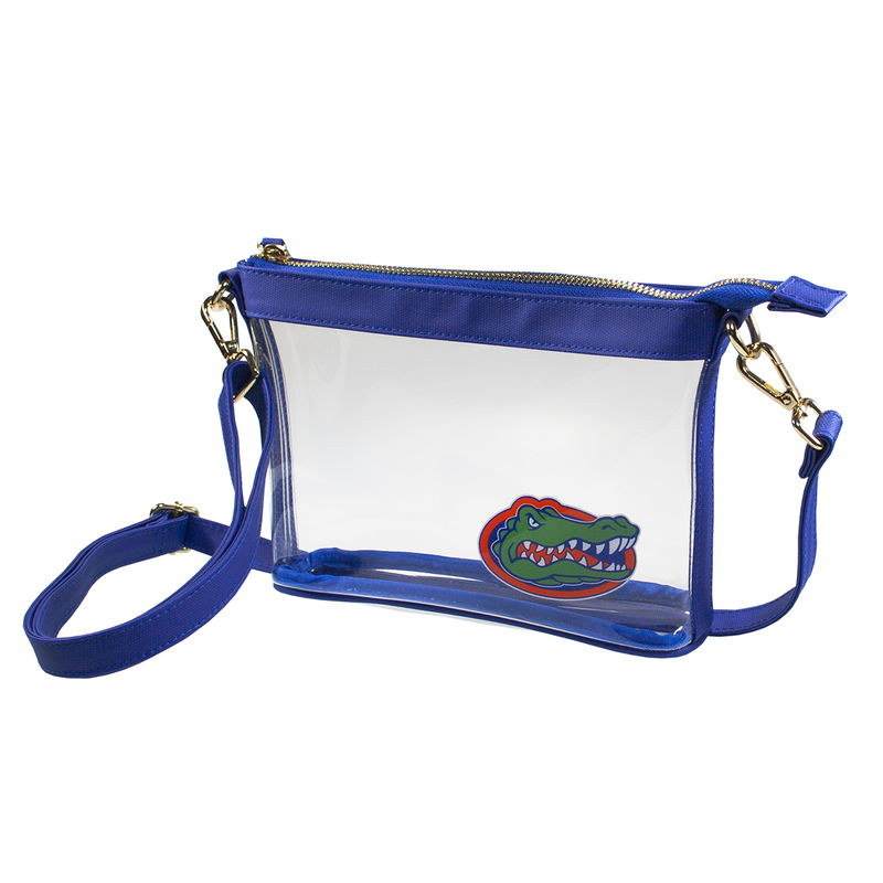 Small Blue Gator Crossbody Bag - product image