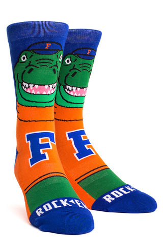 Florida,Gators,-,Albert,Mascot,Knitted,Gators Albert Mascot Socks