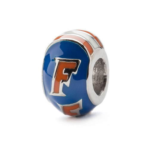 University of Florida Blue and Orange Round Bead Charm - product images  of